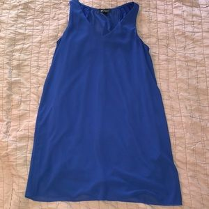 Beautiful blue dress with simple detail on back